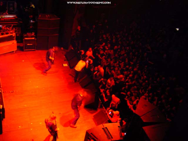 [in flames on Apr 6, 2002 at The Palladium (Worcester, MA)]